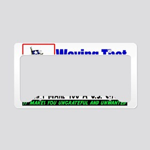 wavewhite License Plate Holder