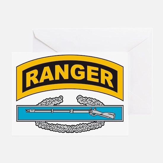 CIB with Ranger Tab Greeting Card