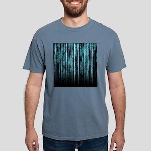 Digital Rain - Blue T-Shirt