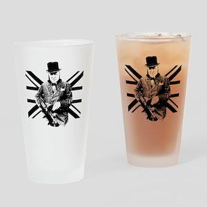 Churchill Flag Drinking Glass