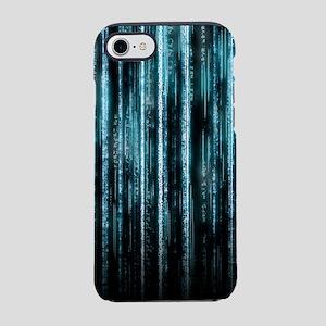 Digital Rain - Blue iPhone 7 Tough Case