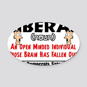 liberal1 Oval Car Magnet