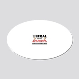 liberal1 20x12 Oval Wall Decal
