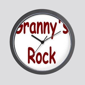 grannys rock Wall Clock