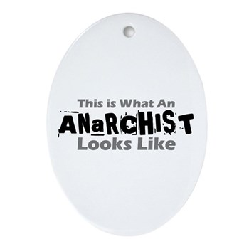 Anarchist Oval Ornament
