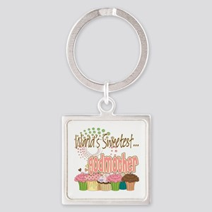 Sweetest godmother copy Square Keychain