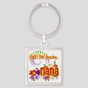 Amazing nana copy Square Keychain