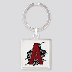 scarlet-a_tr2 Square Keychain