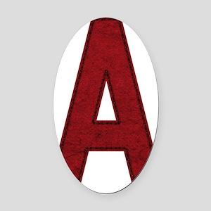 scarlet-a Oval Car Magnet