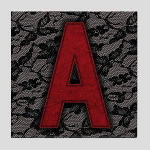 scarlet-a_9x12 Tile Coaster
