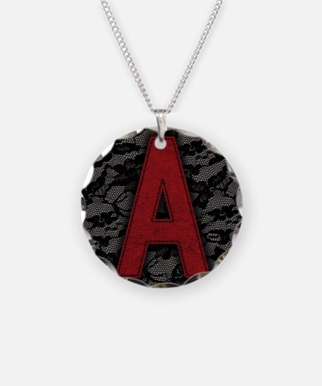 scarlet-a_9x12 Necklace