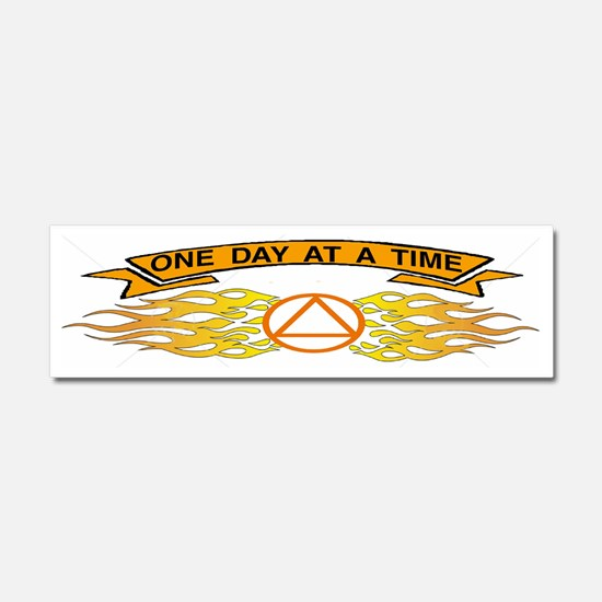 ONE DAY AT TIME STICKER Car Magnet 10 x 3