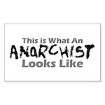 Anarchist Rectangle Sticker