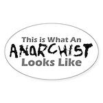 Anarchist Oval Sticker
