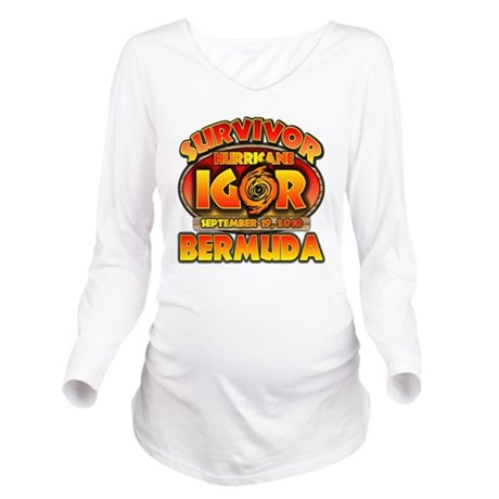 2-igor_cp_bermuda Long Sleeve Maternity T-Shirt