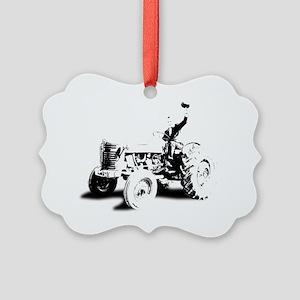 TRACTOR2 copy Picture Ornament