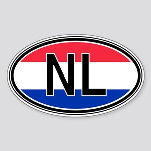 Netherlands Euro Oval Sticker