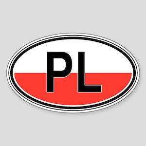 Poland Euro Oval Sticker