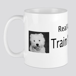 Real Women Train Westies bumper sticker Mug