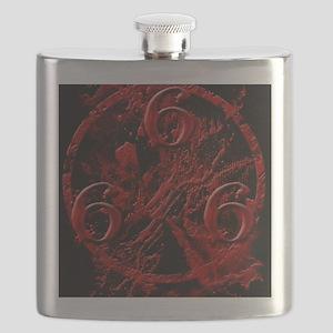NumberOfTheBeast1Front-11x11 Flask