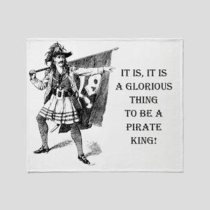 pirate king Throw Blanket