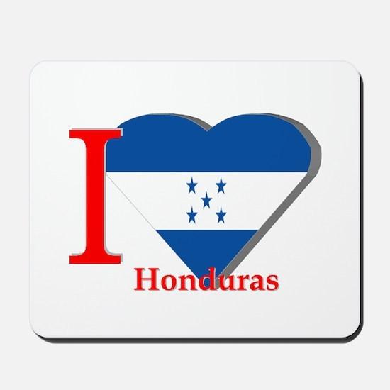 I love flag Honduras Mousepad