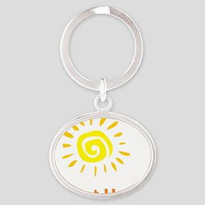 BornatHomeSun Oval Keychain