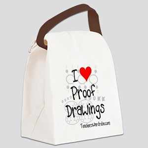 Proof Drawings Canvas Lunch Bag