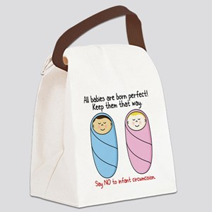 bornperfectCOLORED Canvas Lunch Bag