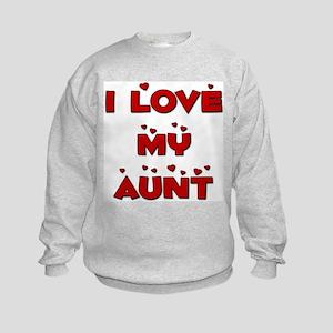 I Love My Aunt Kids Sweatshirt