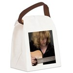 FocusGuitarCroped8x8 Canvas Lunch Bag