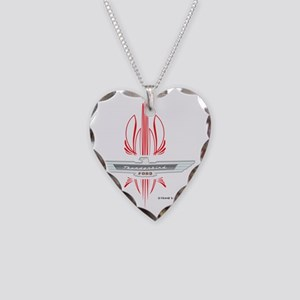 t_bird_Emblem_pinstripes_blk Necklace Heart Charm
