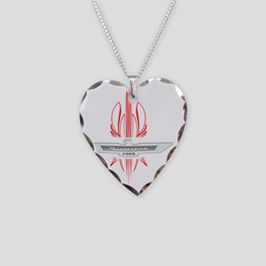 t_bird_Emblem_pinstripes_whit Necklace Heart Charm