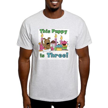 3rd Puppy Birthday Light T-Shirt