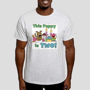 2nd Puppy Birthday Light T-Shirt