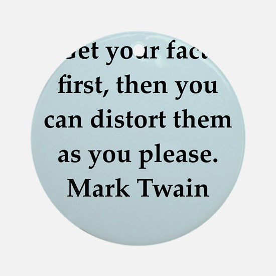 twain9.png Ornament (Round)