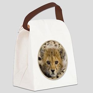 yule cheetah baby Canvas Lunch Bag