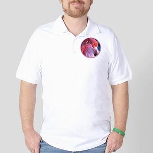 yule flamingo 2 Golf Shirt