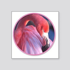 "yule flamingo 2 Square Sticker 3"" x 3"""