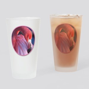 yule flamingo 2 Drinking Glass