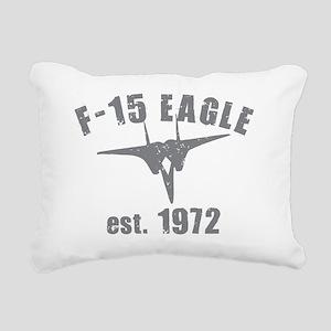 varsity-f15-1972-gray Rectangular Canvas Pillow