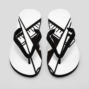 Masonic Emblem Flip Flops