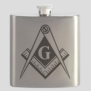 Masonic Emblem Flask