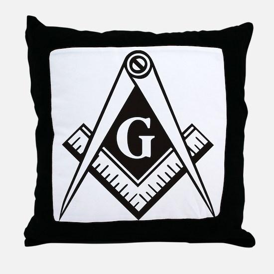 Masonic Emblem Throw Pillow