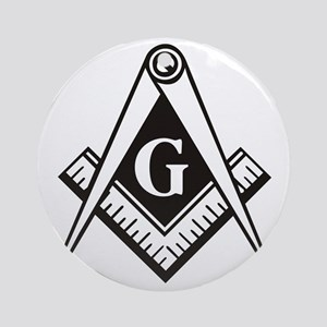 Masonic Emblem Round Ornament