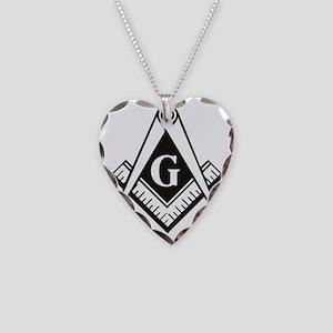 Masonic Emblem Necklace Heart Charm