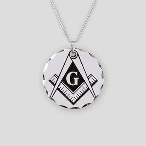 Masonic Emblem Necklace Circle Charm