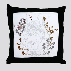 Wolf Shirt 2 Throw Pillow