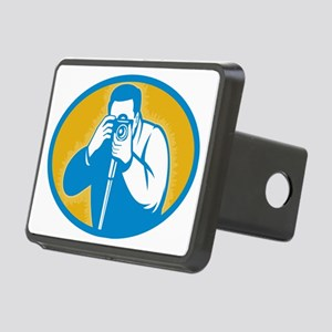 photographer with DSLR cam Rectangular Hitch Cover
