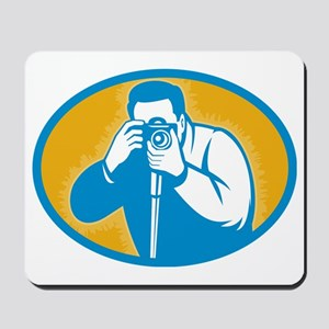 photographer with DSLR camera Mousepad